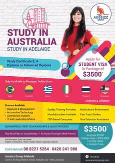 Study in Australia AND Study in Adelaide