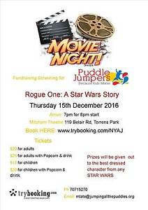 Fundraising movie night Rouge one: a star wars story Forestville Unley Area Preview