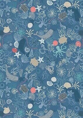Under The Sea on Dark Blue, Lewis & Irene.Thalassophile Nautical Theme.