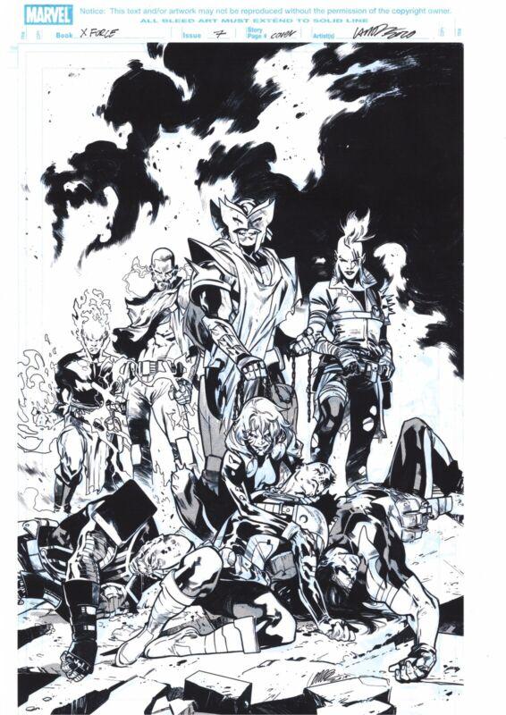MARVEL X-Force (X-Men) Original Cover Art by PEPE LARRAZ Signed