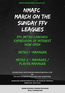 Football/soccer Managers/Player manager wanted