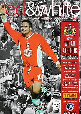Football Programme plus Match Report>BRISTOL CITY v WIGAN ATHLETIC Jan 2000