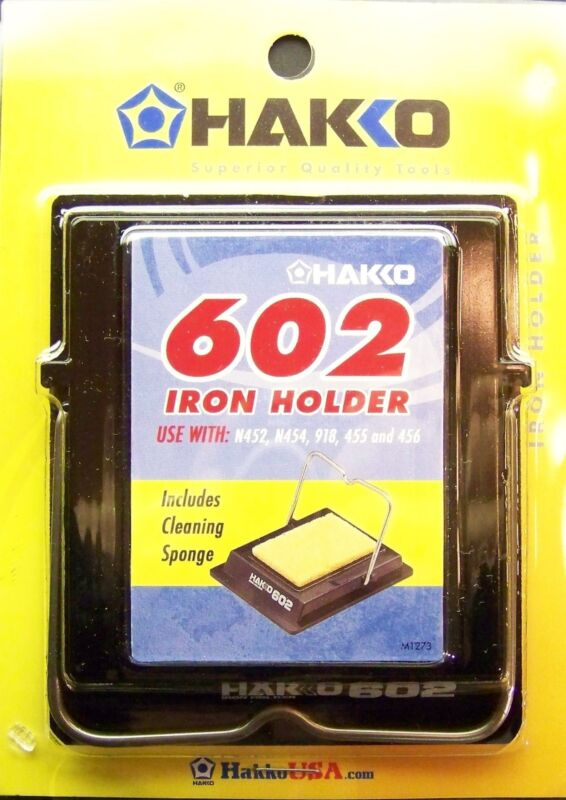 HAKKO IRON HOLDER 602 Includes Cleaning Sponge Stained Glass Supplies NEW!