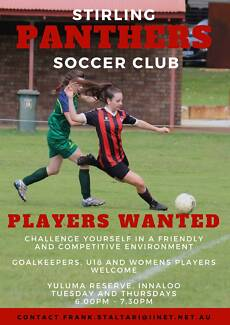 Female Soccer Players wanted!