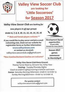 valley view soccer club looking for new players u6s upto u16s Valley View Salisbury Area Preview