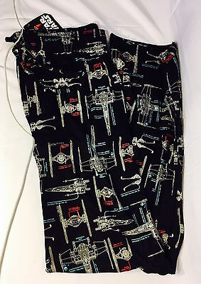 RARE Star Wars Ship Wireframe Pajama Pants Loot Crate Wear LVL UP Size (2XL)