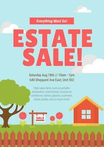 ESTATE SALE // SAT AUG 18