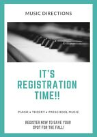 Piano and Theory Lessons-Daytime Spots Available