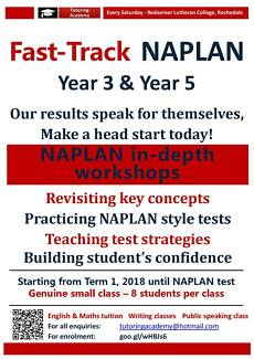2018 NAPLAN Test Fast Track classes