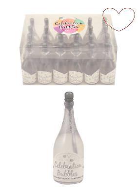 1-96 Champagne Bottle Bubbles Silver Wedding Table Decoration Party Bag Favour - Bubble Bottle