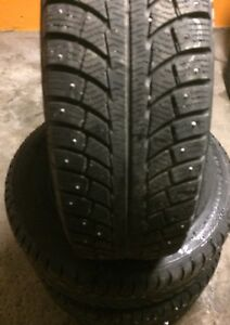 Pneus d'hiver cloute 225 65 r17 winter tires studded Gislaved