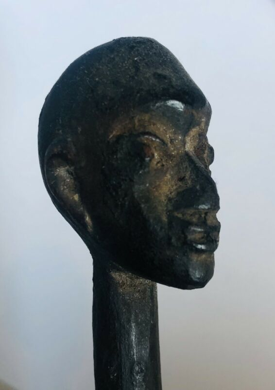 Outstanding Antique African Wooden Carving Hair Pin.