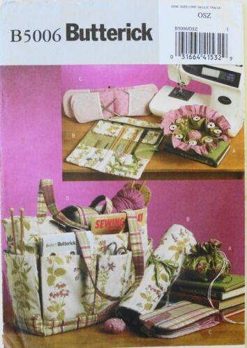 Butterick 5006 Sewing Knitting Tote Case Pincushion Pattern