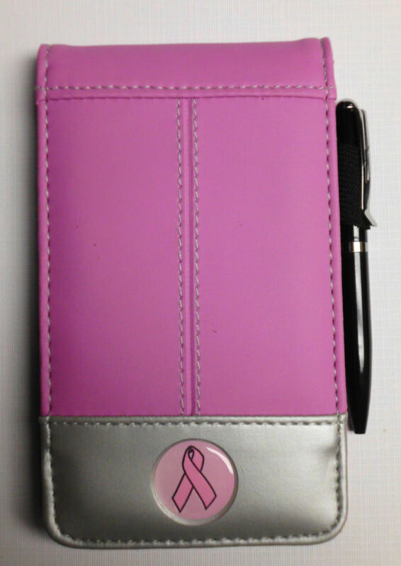 BREAST CANCER AWARENESS ITEM PINK New Two Color Jotter Notebook Calculator Combo
