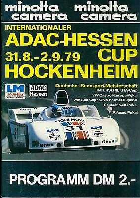 Programm 1979 Hessen Cup Hockenheim DRM DRT Interserie CanAm Porsche 908 VW Golf
