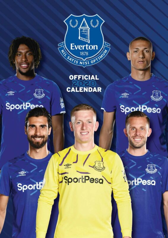 Everton+FC+2020+Official+A3+Wall+Calendar+Football