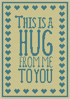 Hug Rug Blanket  - C2C Graphghan Crochet Pattern