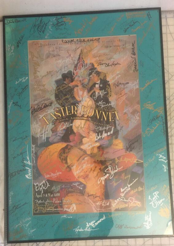 Broadway cares 1996 Easter Bonnet poster signed 240+ performers-Julie Andrews