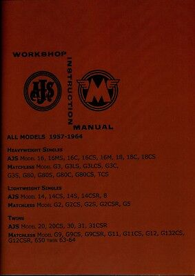 Matchless AJS Workshop Manual G3 G11 G11CS G12 G9 8 14 16 Singles Twins 1957-64