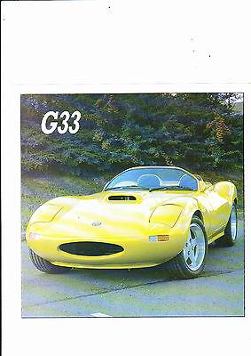 Ginetta G33 V8 -  8 piece brochure/spec/price list collection - 1990-91