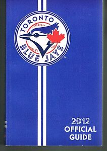 2012 Toronto Blue Jays MLB Baseball Media GUIDE