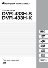 Pioneer dvr-640h-s dvr-550h dvr-225 operating instructions