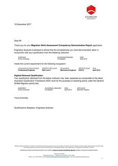 Engineers Australia Skills Assessment, CDR Writing
