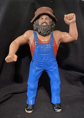 LJN WWF WWE Hillbilly Jim with Hat 1984 Wrestling Action Figure!