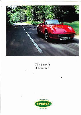 EVANTE brochure - c1991 - 4 pages - mint