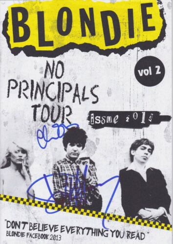 Debbie Harry & Chris Stein signed Blondie tour program