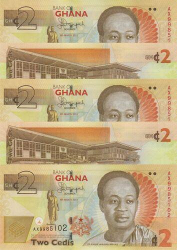 LOT, Ghana 2 Cedis (06.3.2013) p37Ab x 5 PCS UNC