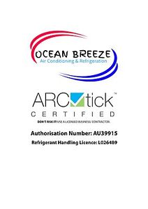 Ocean Breeze Air Conditioning & Refrigeration Lambton Newcastle Area Preview