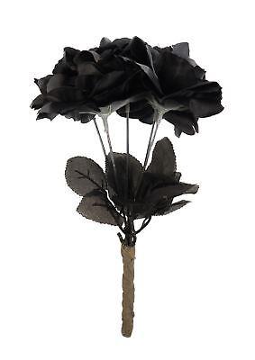 Black Widow Roses, Posie, Zombie/Corpse Bride Bouquet, Halloween Fancy Dress #DE