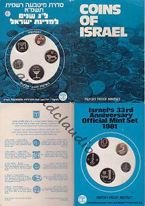 ISRAELE-ISRAEL-SERIE-PIEFORT-PROOF-MINTSET-5-VALORI-1981-FDC-PROOF