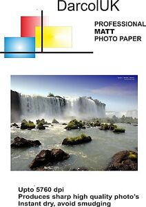 PROFESSIONAL QUALITY DOUBLE SIDED MATT PHOTO PAPER A4 220GSM X 50 SHEETS