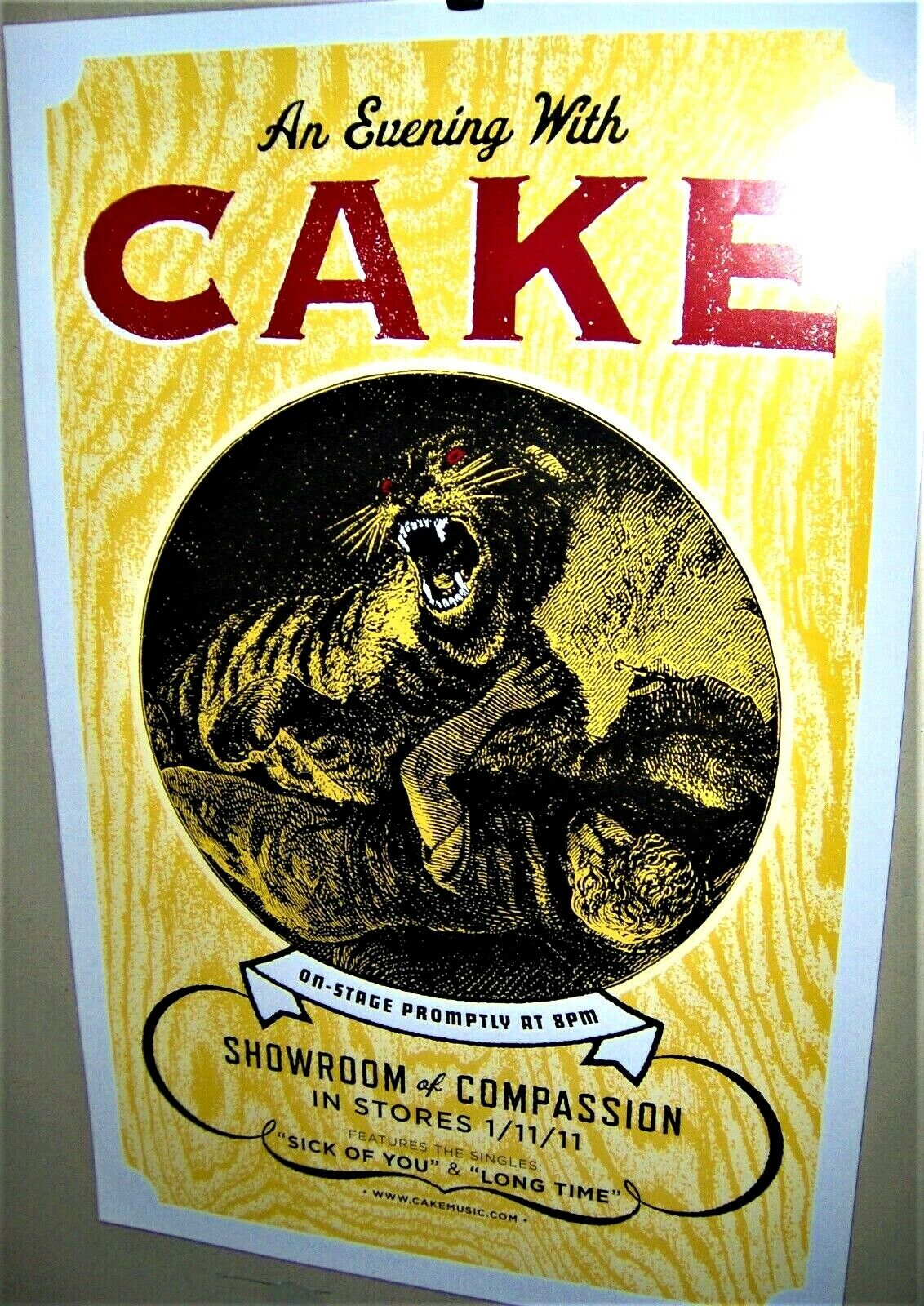 CAKE An Evening With CAKE DS Original Promo Poster Showroom Of Comassion COOL - $30.00