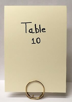 Gold Table Number, Menu Place Card Holders Wedding Decor Set of 10 (Large)