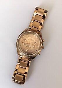Caravelle New York Rose Gold Color Watch