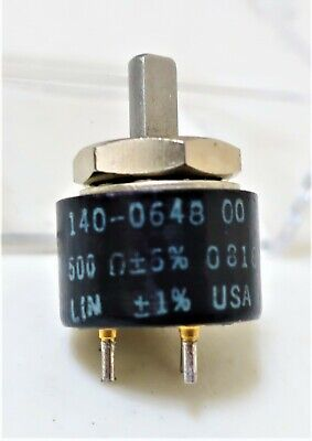 New Vishay Spectrol Potentiometer 140-0648 500 Ohms. Qty 1