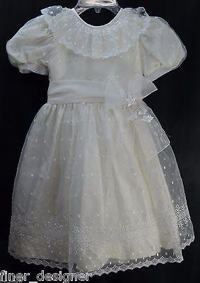 SYLVIA WHYTE GIRLS DESIGNER flower communion Wedding formal gown dress SZ 6X NEW