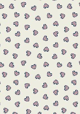 100% Cotton Fabric, Fat Quarter, Lewis & Irene, Britannia, Union Jack, London