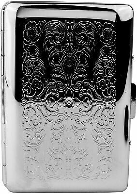 Slim Businesscredit Card Holder With Separation Tabs In Silver Vintage Victo...