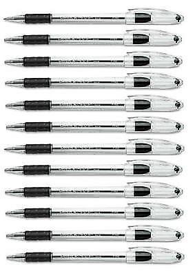 Pentel Rsvp Ballpoint Stick Pen Black Ink Fine Point .7 Mm - 12 Pack Dozen Pens