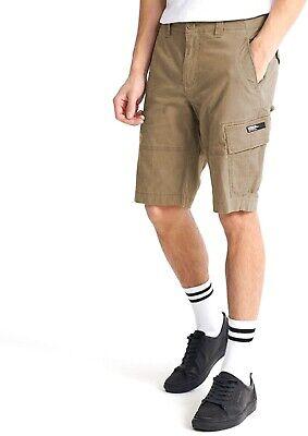 Superdry Mens Cargo Combat Shorts Cotton Summer Pant Casual Short Dress Beige