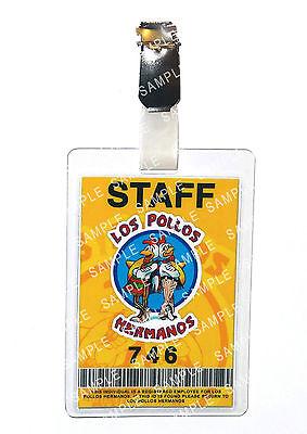 Breaking Bad Staff ID Badge Los Pollos Hermanos Cosplay Prop Costume Comic Con