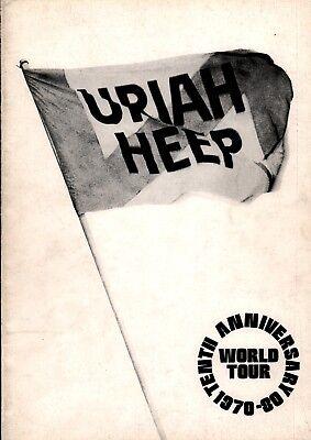 URIAH HEEP 1980 CONQUEST  U.K. TOUR CONCERT PROGRAM BOOK / VG 2 EX