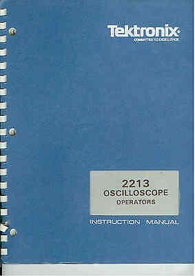 Tektronix 2213 Oscilloscope Operaters Manual Loc.tek 386