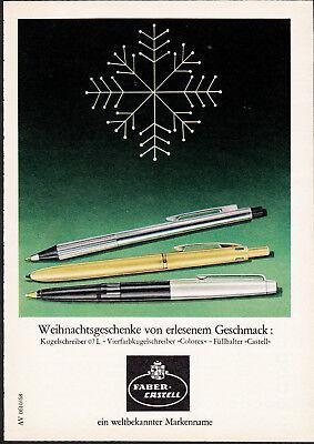 3w2516/ Alte Reklame von 1968 - FABER CASTELL - ein weltbekannter Markenname.