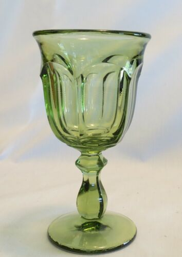 "Imperial Old Williamsburg Verde 6 1/2"" Green Water Goblet(s)"