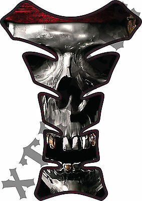 Pirate Skull - Deluxe Gas Tank Protector 3D Gel Pad Guard - Motorcycle Tankguard ()